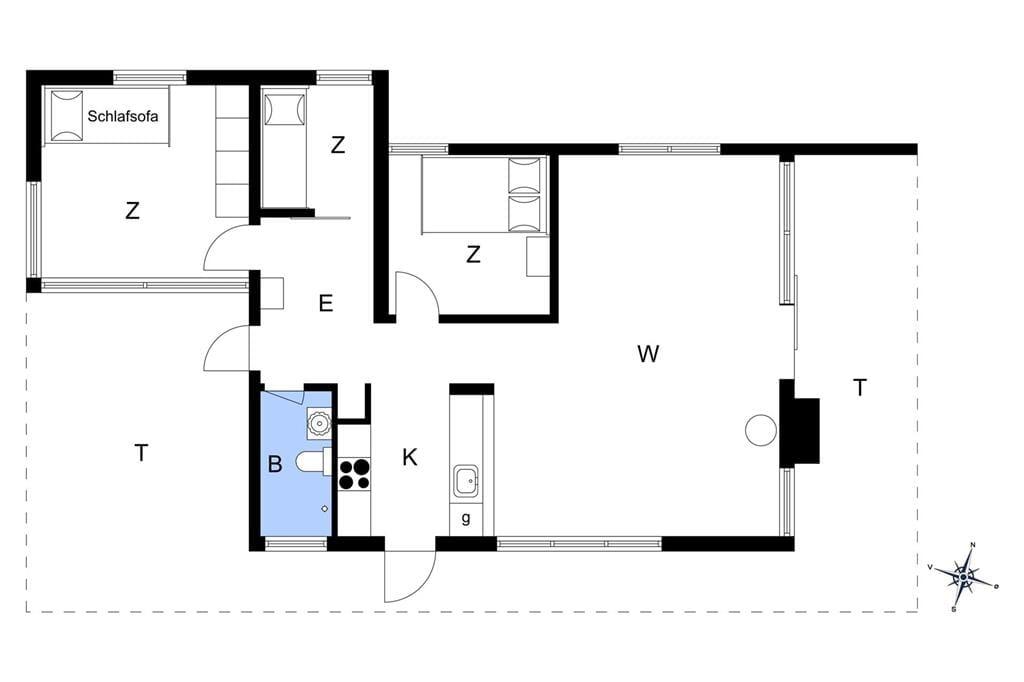 Indretning 1-19 Sommerhus 30112, Rosenvej 8, DK - 8300 Odder
