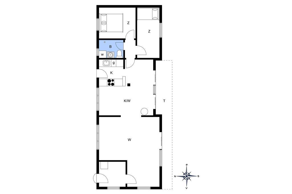 Indretning 1-174 Sommerhus M11007, Kodrivervej 1, DK - 4874 Gedser