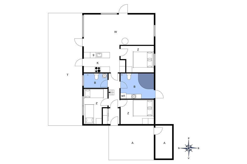 Indretning 1-19 Sommerhus 30311, Violvej 8, DK - 8300 Odder