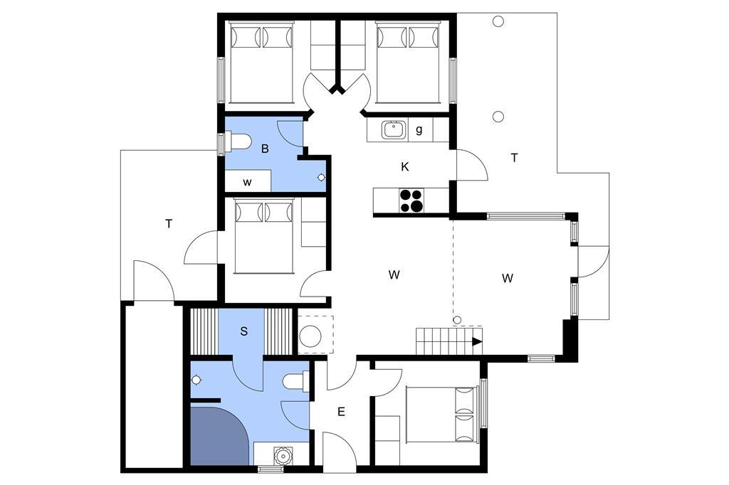 Indretning 1-3 Sommerhus M65902, Mosegården 40, DK - 5600 Faaborg