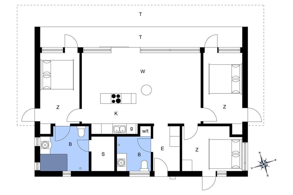 Indretning 1-172 Sommerhus JB131, Kronvildtvej 90, DK - 9460 Brovst
