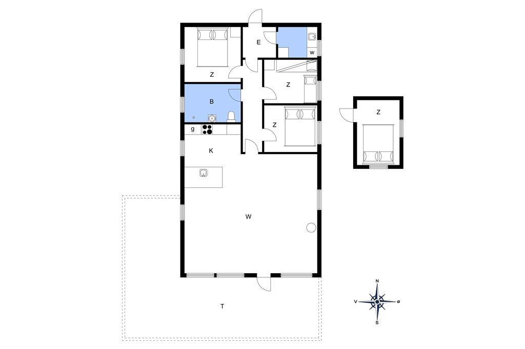 Indretning 1-13 Sommerhus 320, Skråningen 9, DK - 7760 Hurup Thy