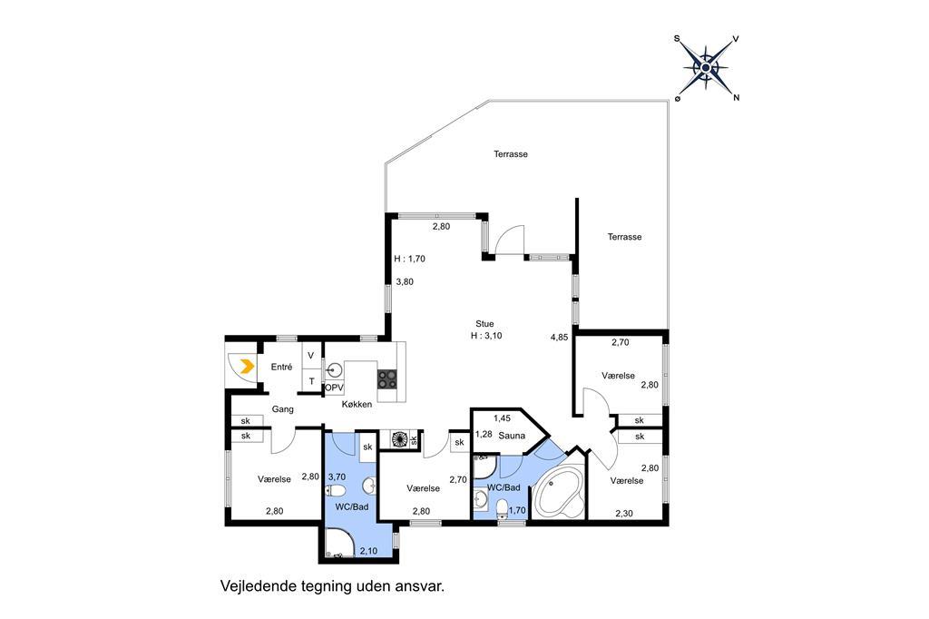 Innenausstattung 1-174 Ferienhaus M17013, Trolliusvej 22, DK - 4873 Væggerløse