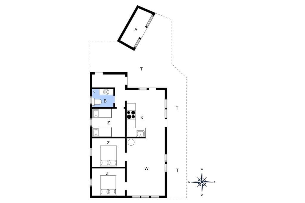 Indretning 1-4 Sommerhus 604, Bjerregårdsvej 193, DK - 6960 Hvide Sande
