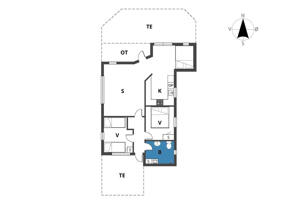 Indretning 1-19 Sommerhus 40134, Parkvænget 2, DK - 7130 Juelsminde
