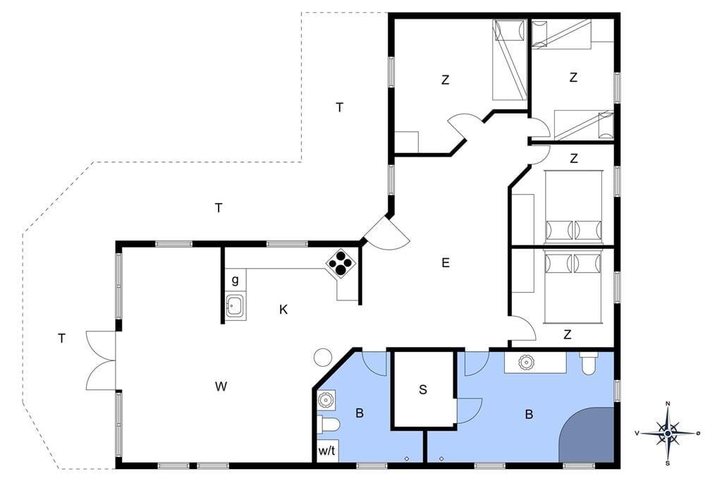 Innenausstattung 1-13 Ferienhaus 509, Ingeborgs Alle 1, DK - 7770 Vestervig