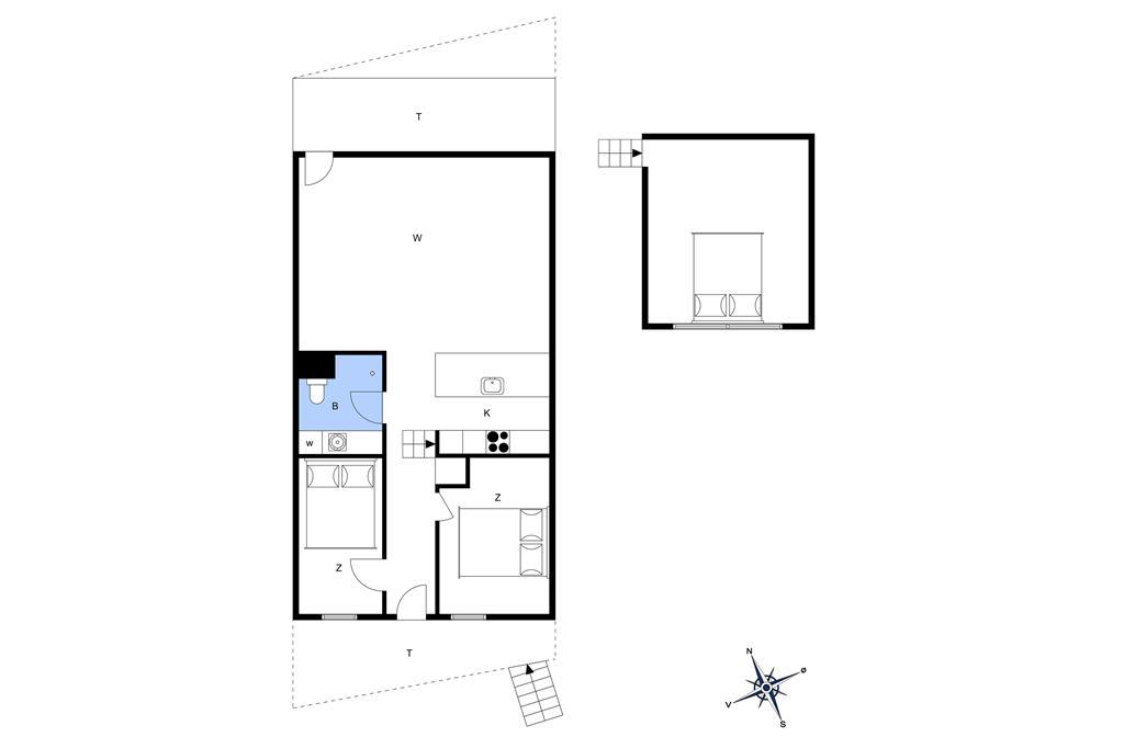 Innenausstattung 1-13 Ferienhaus 791, Havstokken 12, DK - 7700 Thisted