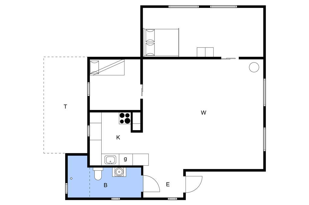 Indretning 1-3 Sommerhus M645413, Solskinsvej 4, DK - 5450 Otterup