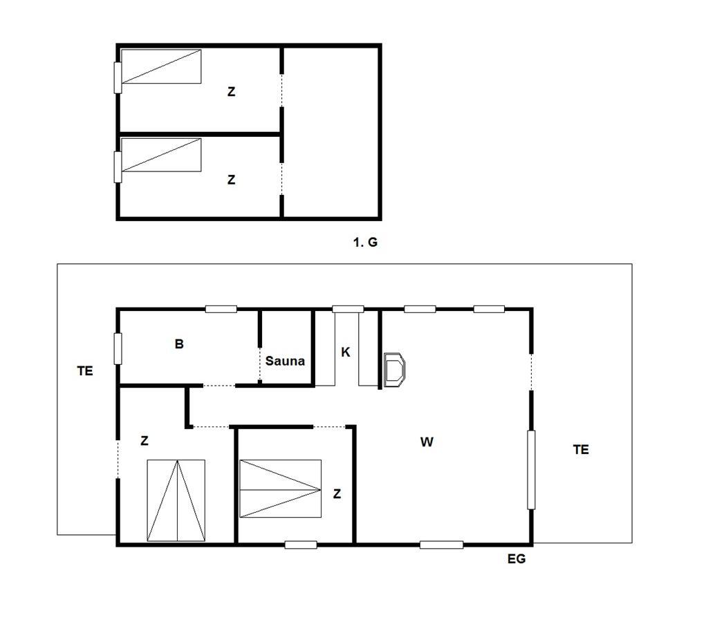 Indretning 1-175 Sommerhus 21301, Hummelmosevej 23, DK - 6990 Ulfborg