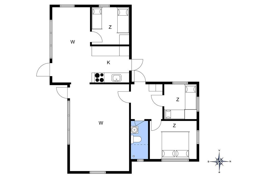 Indretning 1-10 Sommerhus 3663, Strandvolden 3, DK - 3730 Nexø