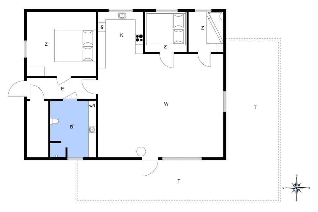 Indretning 1-401 Sommerhus HA122, Tøtmosen 58, DK - 9280 Storvorde