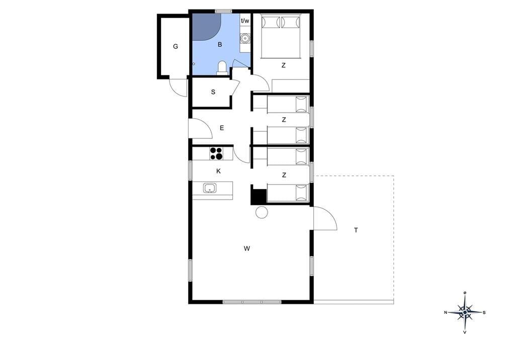 Indretning 1-175 Sommerhus 20712, Knakvej 36, DK - 6990 Ulfborg