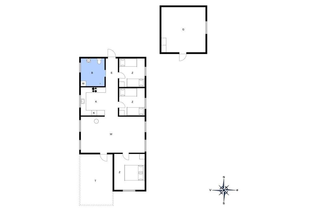 Indretning 1-13 Sommerhus 651, Sømærkevej 50, DK - 7752 Snedsted
