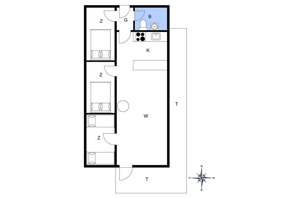 Indretning 1-20 Sommerhus 154, Vejlby Klit 103, DK - 7673 Harboøre