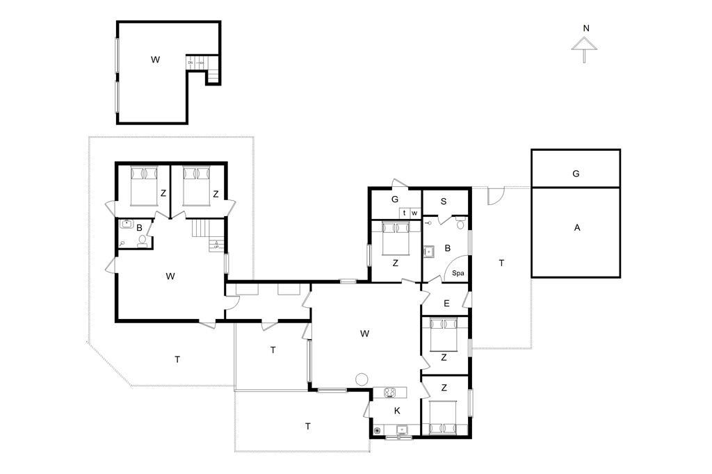 Innenausstattung 1-14 Ferienhaus 226, Paa Bakken 13, DK - 9492 Blokhus