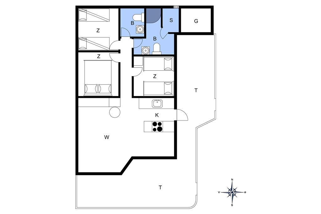 Innenausstattung 1-20 Ferienhaus 151, Neerlandiavej 174, DK - 7673 Harboøre