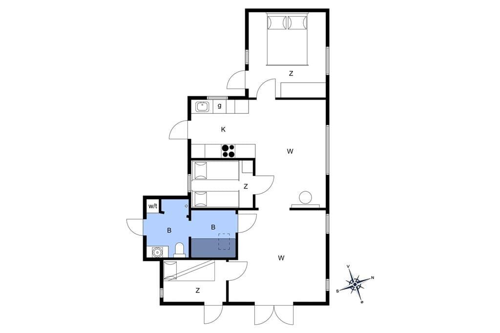 Innenausstattung 1-19 Ferienhaus 30016, Solsortevænget 19, DK - 8330 Beder