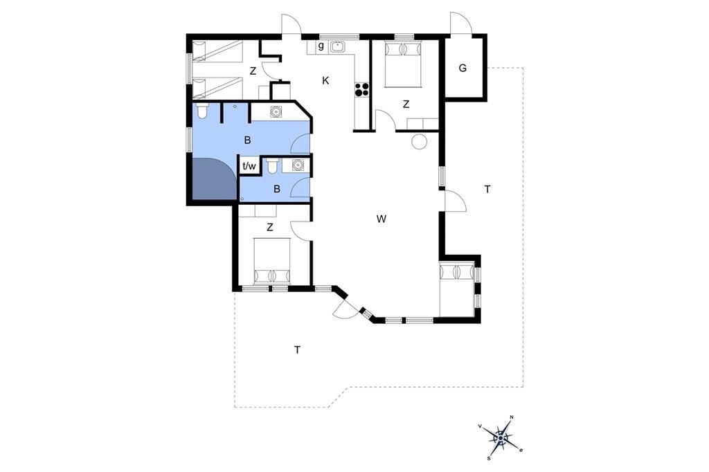 Indretning 1-13 Sommerhus 372, Hellesvej 19, DK - 7770 Vestervig