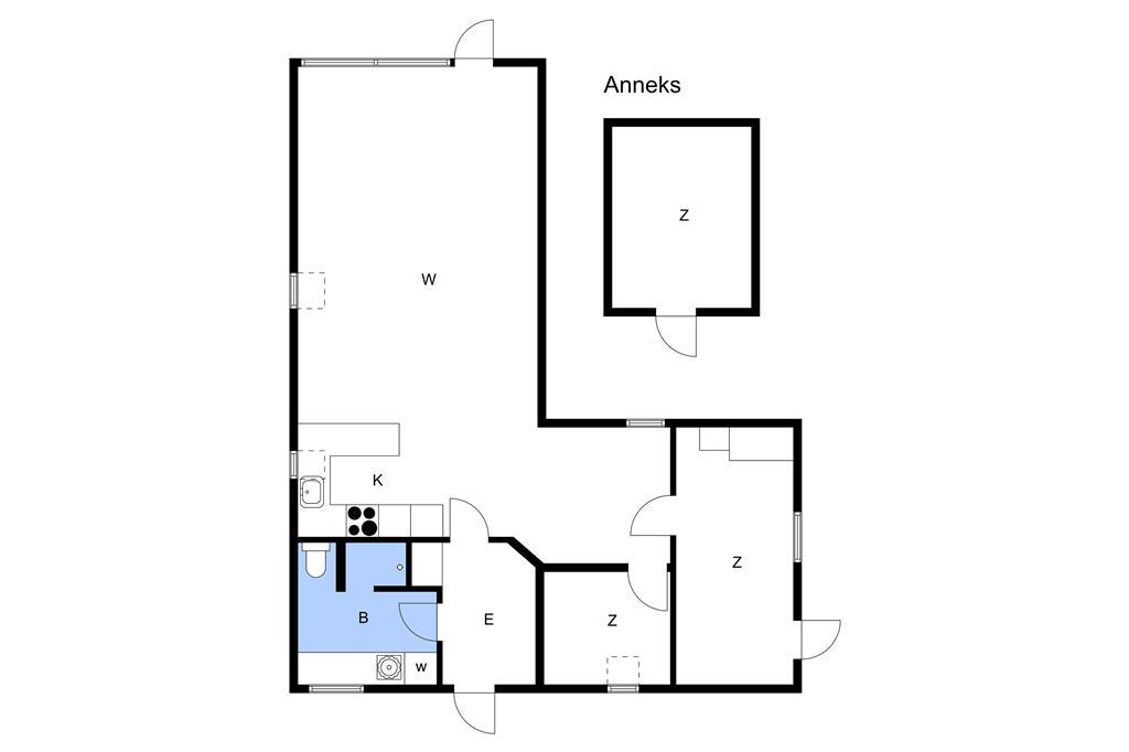 Indretning 1-26 Sommerhus SL244, Gærdesangervej 3, DK - 4200 Slagelse