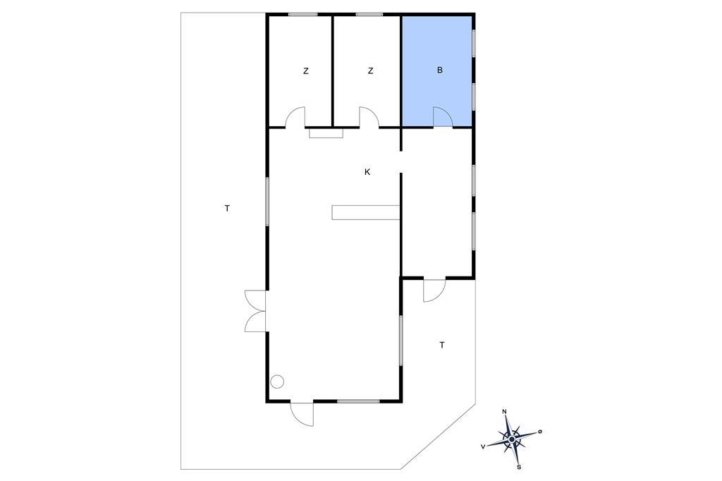 Innredning 1-10 Feirehus 6635, Krølle Borravej 12, DK - 3770 Allinge