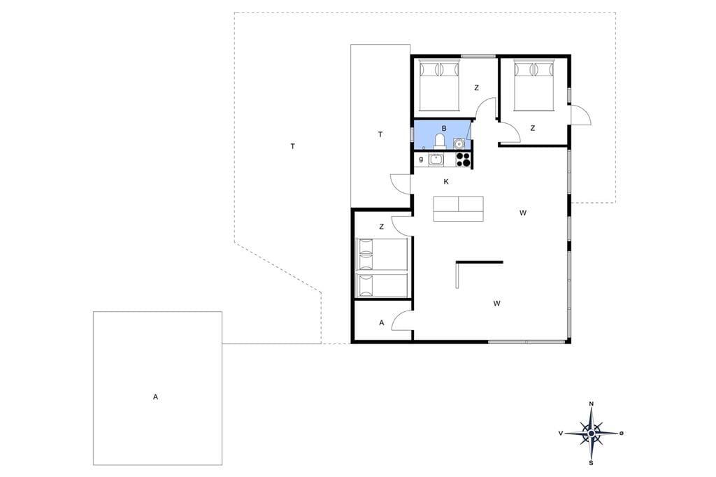 Indretning 1-19 Sommerhus 30029, Ajstrup Strandvej 160, DK - 8340 Malling