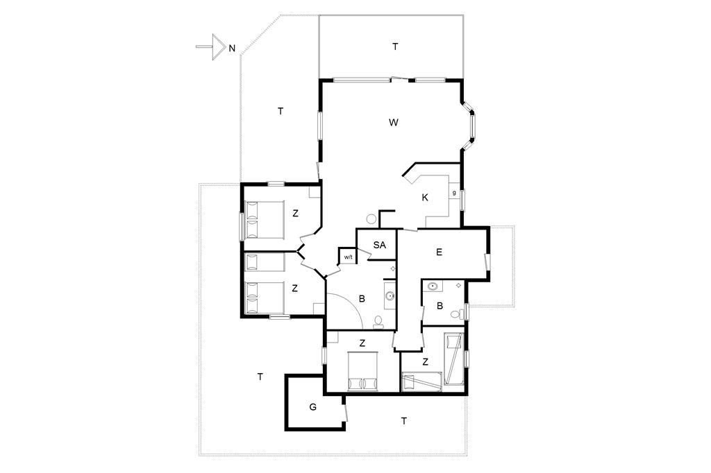 Indretning 1-14 Sommerhus 896, Irenevej 20, DK - 9480 Løkken