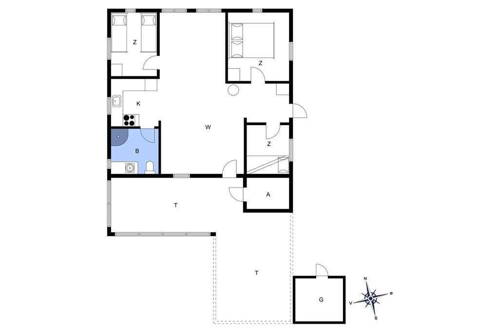 Indretning 1-13 Sommerhus 257, Blåmunkevej 34, DK - 7700 Thisted