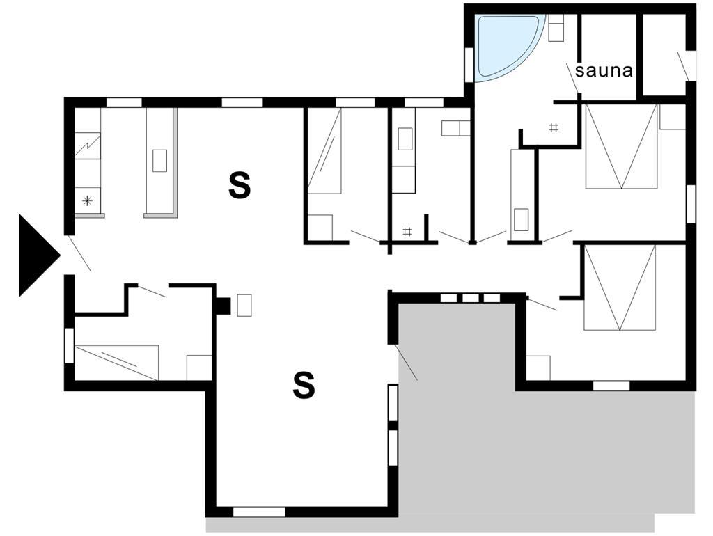 Innenausstattung 1-175 Ferienhaus 30826, Kløvervej 480, DK - 6990 Ulfborg