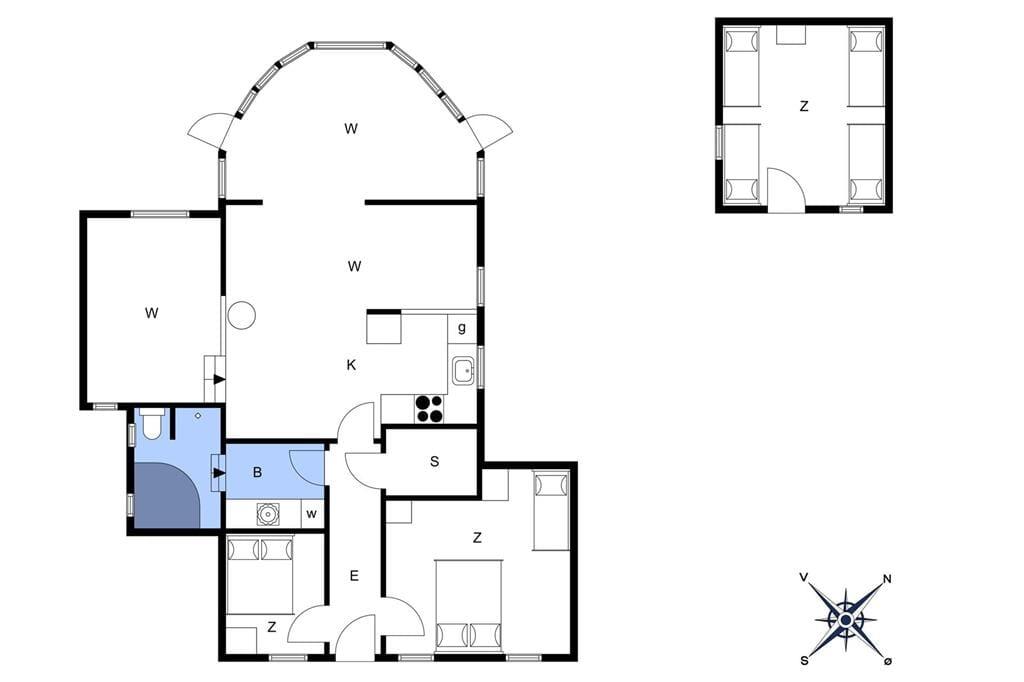 Innenausstattung 1-401 Ferienhaus HA133, Rødkløvervej 24, DK - 9370 Hals