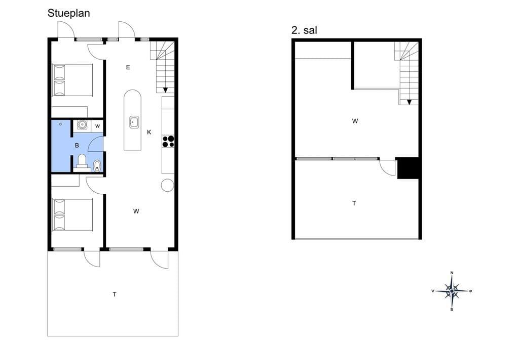 Indretning 1-11 Sommerhus 1648, Blåklokkevej 648, DK - 6792 Rømø
