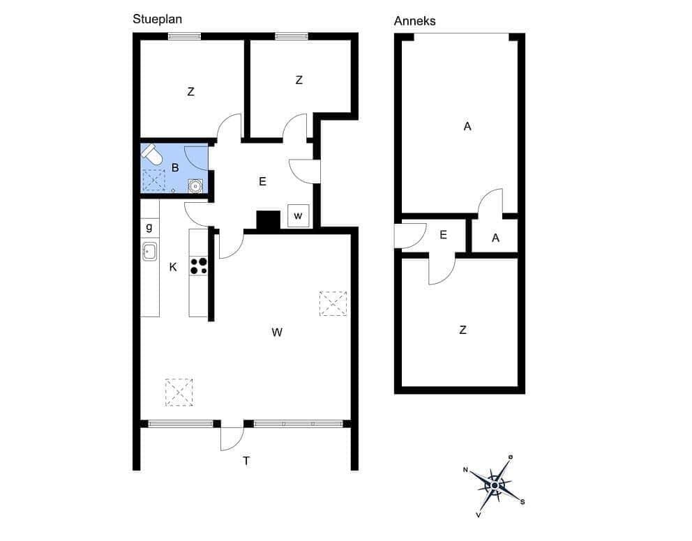 Indretning 1-15 Sommerhus 7010, Møllebakken 35, DK - 4793 Bogø By