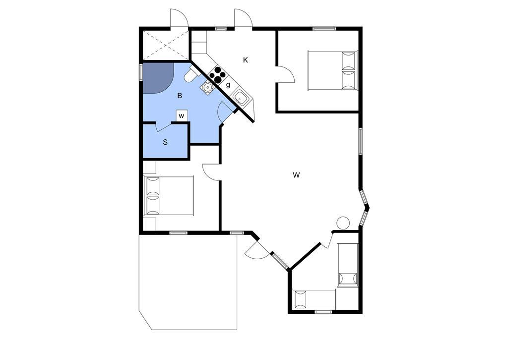 Interieur 1-3 Vakantiehuis M64221, Antaresvej 13, DK - 5500 Middelfart