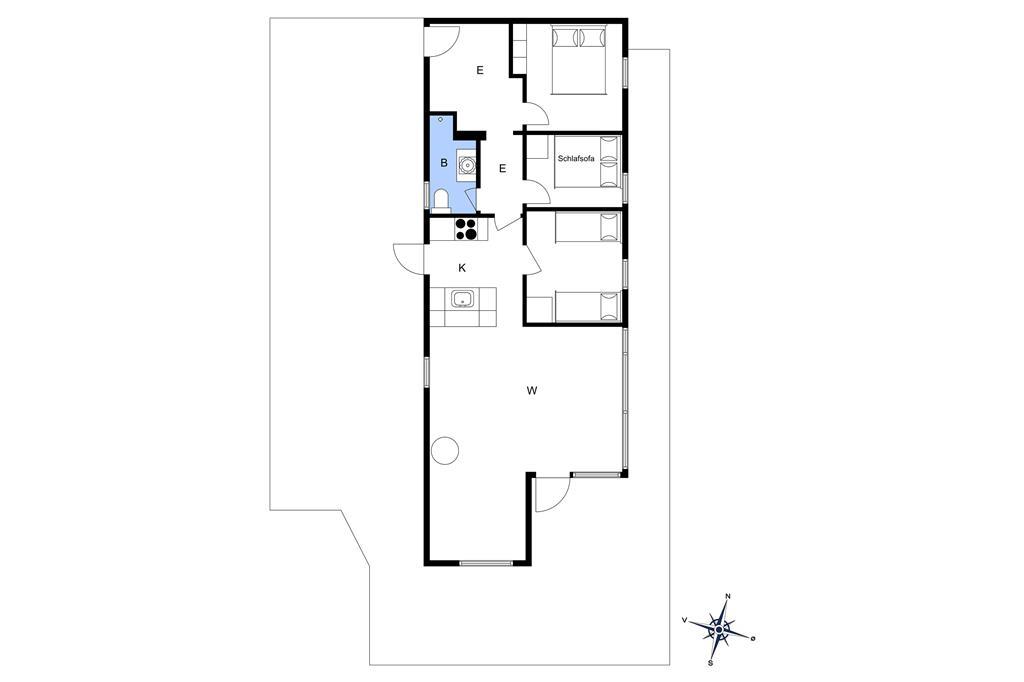Indretning 1-3 Sommerhus L15055, Flyndervej 5, DK - 9631 Gedsted
