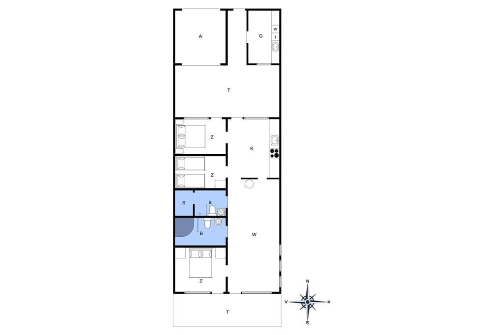 Indretning 1-4 Sommerhus 750, Slusen 50, DK - 6960 Hvide Sande