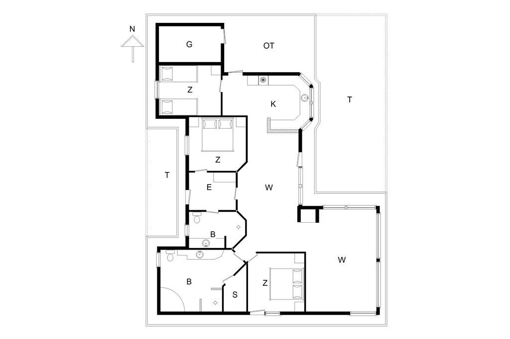 Indretning 1-178 Sommerhus LN740, Høngårdsvej 16, DK - 9800 Hjørring