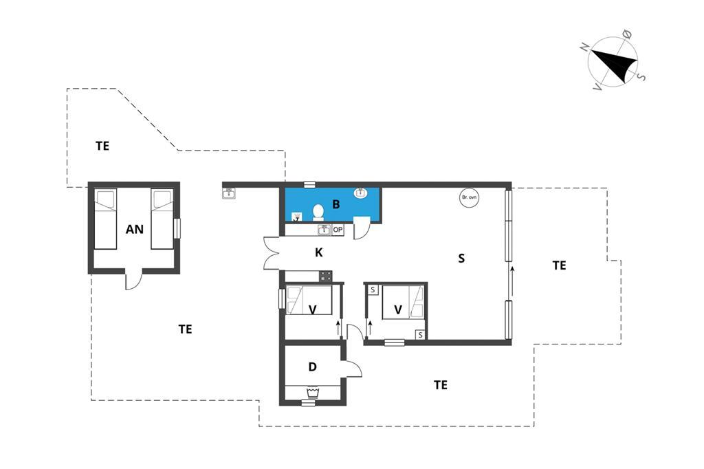 Indretning 1-23 Sommerhus 8495, Pilebakken 10, DK - 8400 Ebeltoft