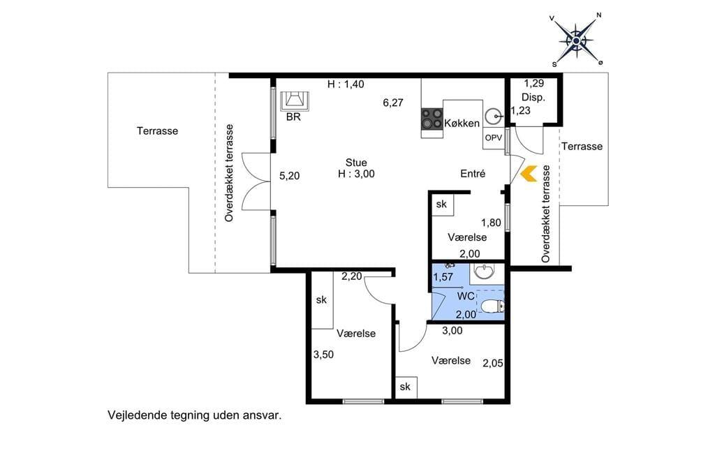 Indretning 1-174 Sommerhus M20003, Glentevejen 1, DK - 4874 Gedser