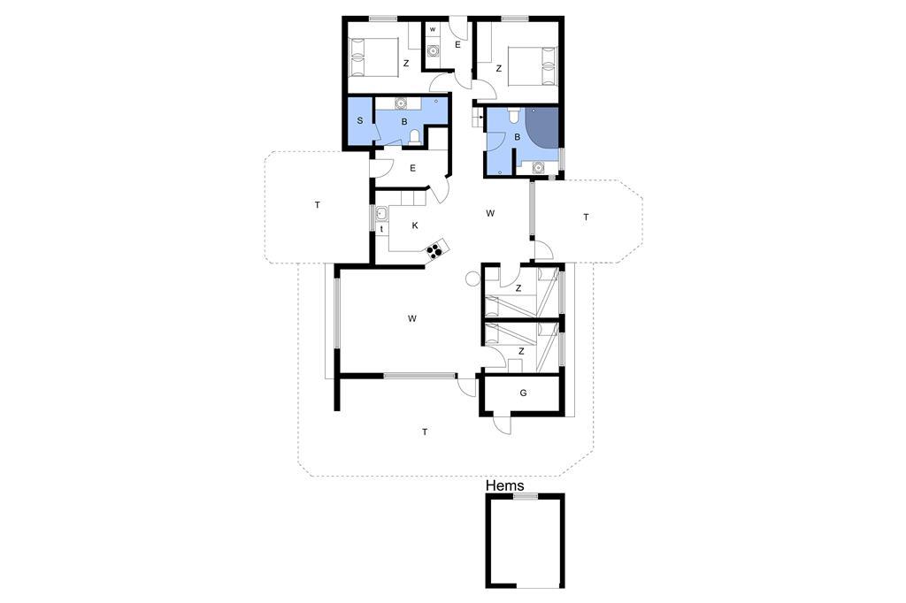 Indretning 1-14 Sommerhus 1299, Bondagervej 44, DK - 9493 Saltum