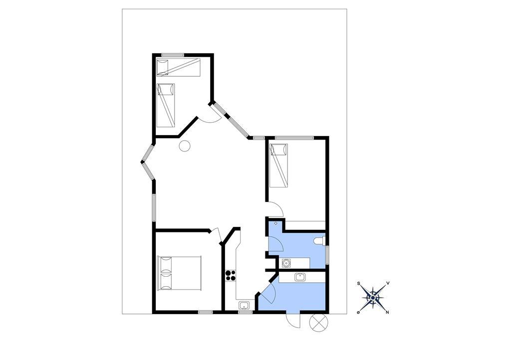 Innenausstattung 1-10 Ferienhaus 4605, Stampen Vej 4, DK - 3700 Rønne