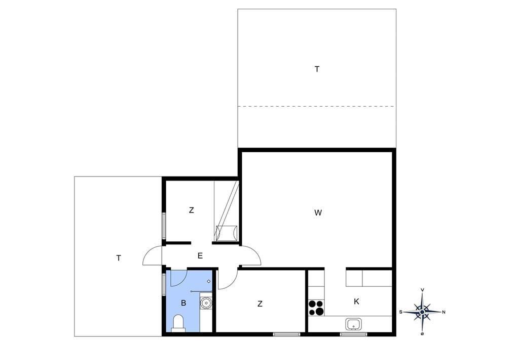 Indretning 1-17 Sommerhus 11811, Tværlodden 4 0, DK - 4500 Nykøbing Sj