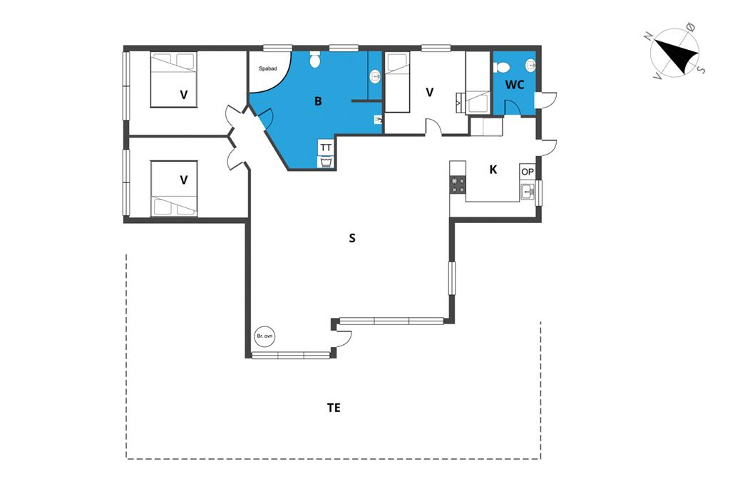 Indretning 1-23 Sommerhus 8469, Bjarkes Grund 17, DK - 8400 Ebeltoft