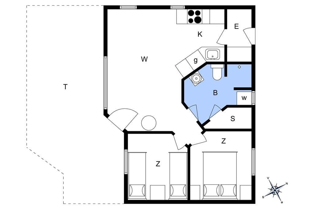 Indretning 1-22 Sommerhus C11110, Bork Hytteby 51, DK - 6893 Hemmet