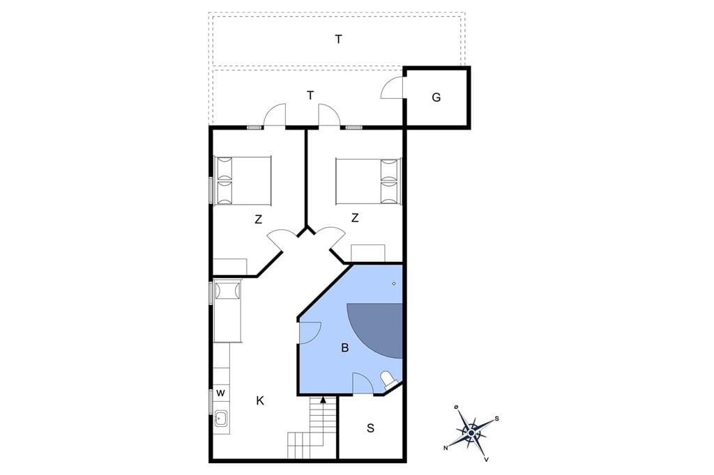 Innenausstattung 1-13 Ferienhaus 483, Bjergvej 8, DK - 7752 Snedsted
