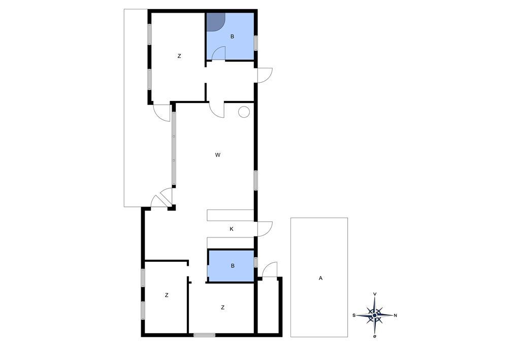 Indretning 1-10 Sommerhus 1512, Bjælkeåsen 3, DK - 3720 Aakirkeby