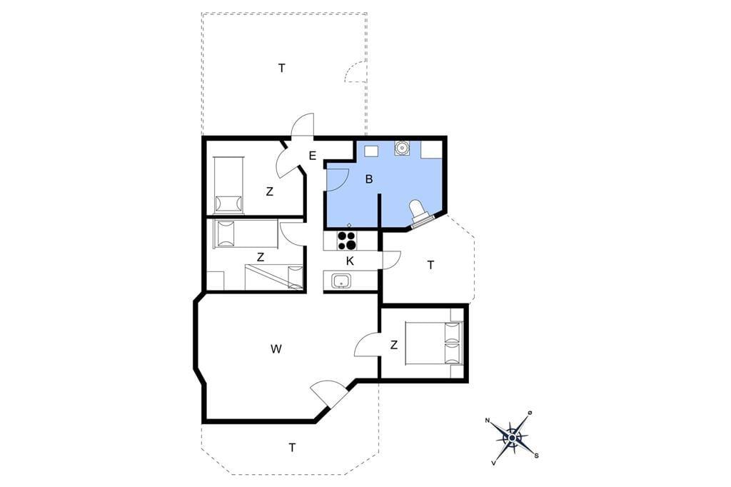 Innenausstattung 1-20 Ferienhaus 518, Lyngsletten 50, DK - 7620 Lemvig