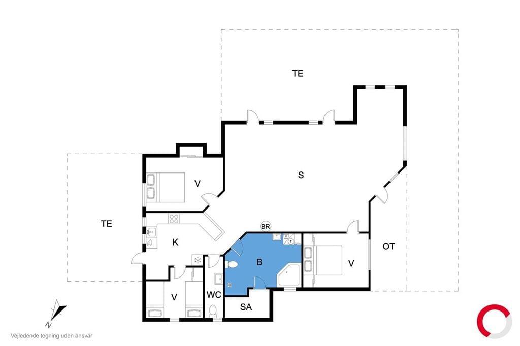 Indretning 1-23 Sommerhus 8474, Lærkevej 13, DK - 8400 Ebeltoft