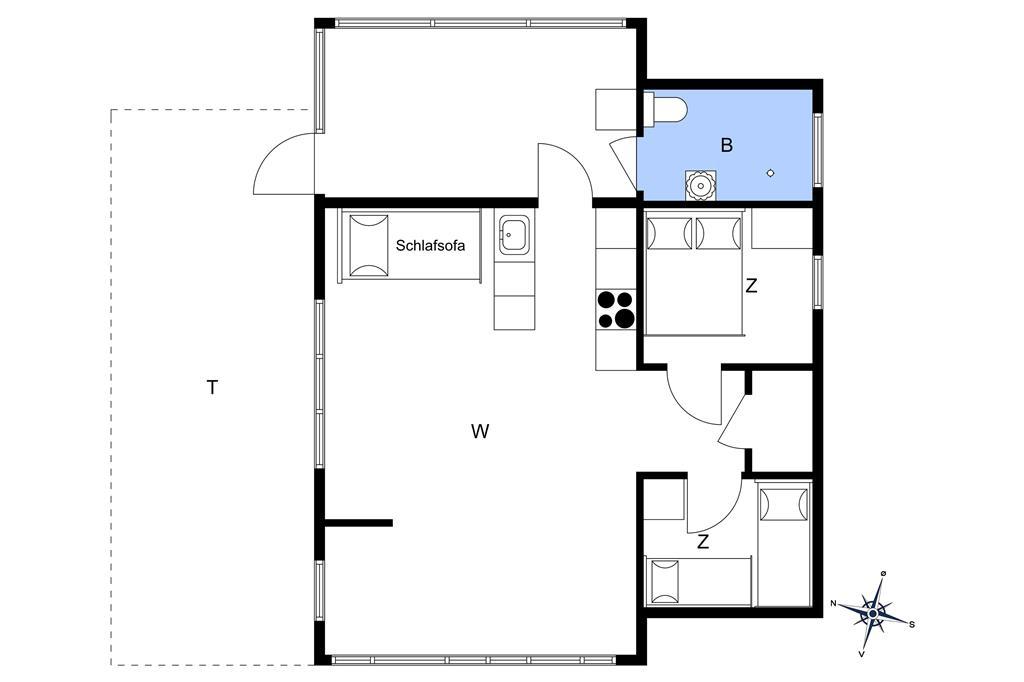 Indretning 1-19 Sommerhus 40116, Mirabellevej 10, DK - 7130 Juelsminde