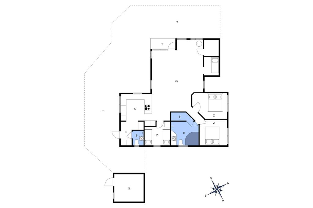 Indretning 1-13 Sommerhus 938, Niels Vognmandsvej 8, DK - 7700 Thisted