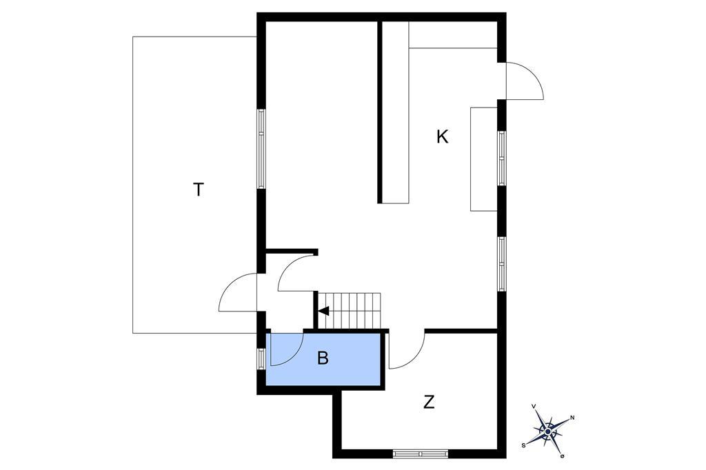 Innredning 1-10 Feirehus 5450, Sdr. Strandvej 138, DK - 3760 Gudhjem