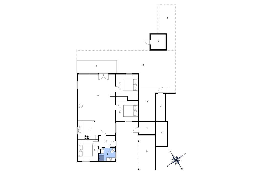 Interieur 1-3 Vakantiehuis M64525, Sitkavænget 22, DK - 5450 Otterup